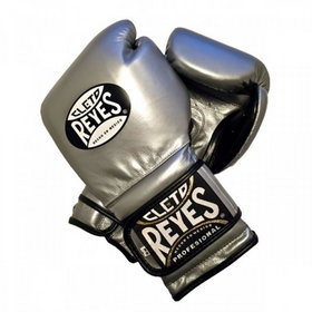 Cleto Reyes platinum velcro sparring boxing gloves