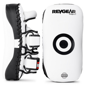 Revgear Curved Thai Kick Pads White & Black
