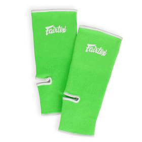 Fairtex Premium Ankle Supports Green & White