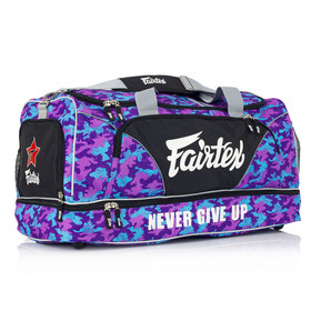 Fairtex Purple Camo Heavy Duty Gym Bag