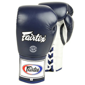 Fairtex Boxing Gloves / Pro Lace Up / Blue