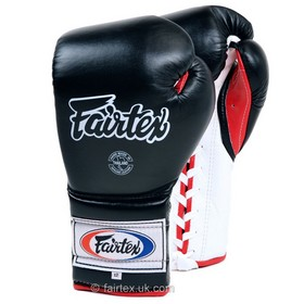 Fairtex Boxing Gloves / Mexican Lace-up / Black