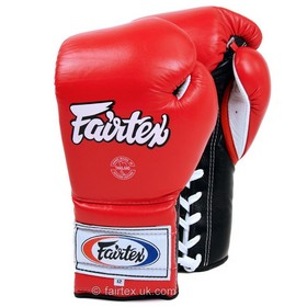 Fairtex Boxing Gloves / Mexican Lace-up / Red