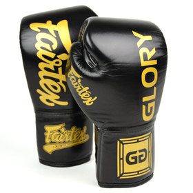 Fairtex X Glory Lace-up Boxing Gloves Black