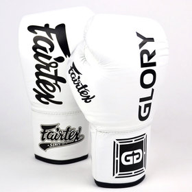 Fairtex X Glory Lace-up Boxing Gloves White