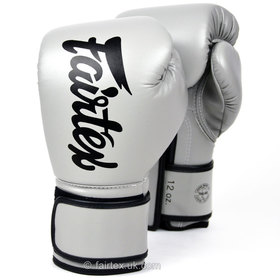 Fairtex Lightweight Microfibre Boxing Gloves Grey