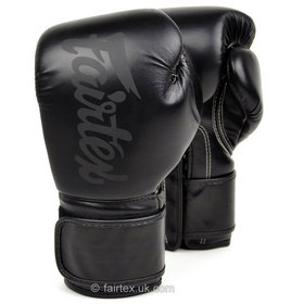Fairtex Solid Black Lightweight Boxing Gloves