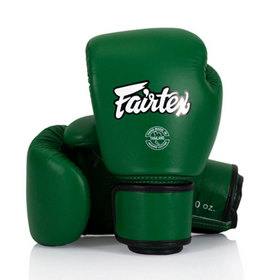 Fairtex Forrest Green Leather Boxing Gloves