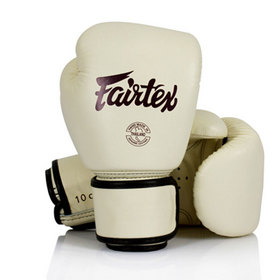Fairtex Khaki Leather Boxing Gloves
