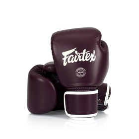 Fairtex Maroon Leather Boxing Gloves