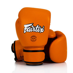 Fairtex Orange Leather Boxing Gloves
