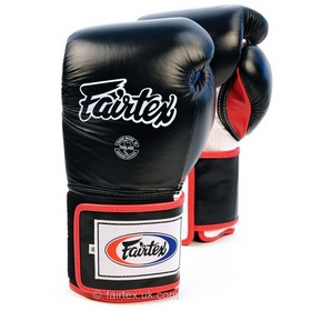 Fairtex Super Sparring Velcro Boxing Gloves Black