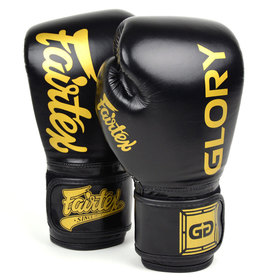 Fairtex X Glory Velcro Boxing Gloves Black