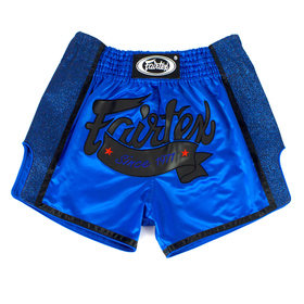 Fairtex Slim Cut Muay Thai Shorts Royal Blue