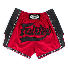 Fairtex Slim Cut Muay Thai Shorts Red-Black