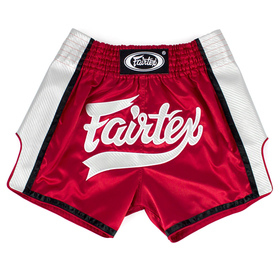 Fairtex Slim Cut Muay Thai Shorts Red-White