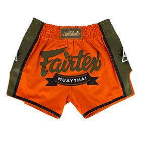 Fairtex Orange Slim Cut Muay Thai Shorts