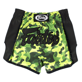 Fairtex Slim Cut Muay Thai Shorts Green Camo