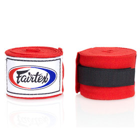 Fairtex 4.5m Hand Wraps Red
