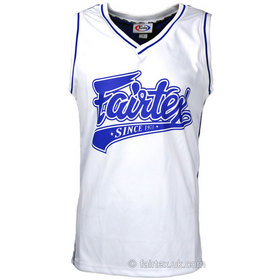 Fairtex Basketball Jersey White & Blue