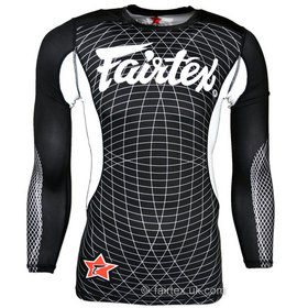 Fairtex Long Sleeve Rash Guard Black & White