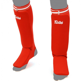 Fairtex Competition Shin Pads Red