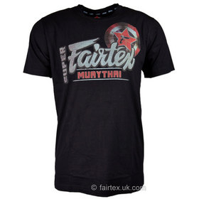 Fairtex Cotton T-Shirt Black Super Muay Thai