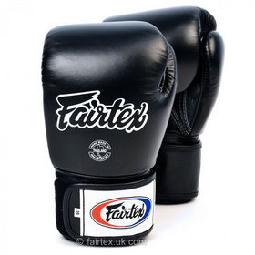 Fairtex Breathable Black Velcro Boxing Gloves