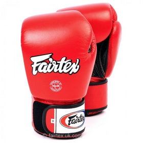 Fairtex Breathable Red Velcro Boxing Gloves