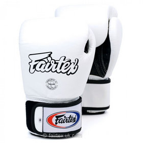 Fairtex Breathable White Velcro Boxing Gloves