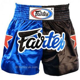 Fairtex Satin Muay Thai Shorts Classic Blue-Black