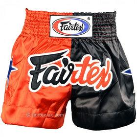 Fairtex Satin Muay Thai Shorts Classic Red-Black