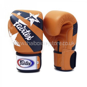 Fairtex Orange Nation Print Velcro Boxing Gloves