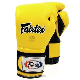 Fairtex Mexican Yellow/Black Velcro Boxing Gloves