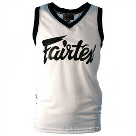Fairtex Basketball Jersey White & Black