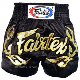 Fairtex Satin Muay Thai Shorts Eternal Gold