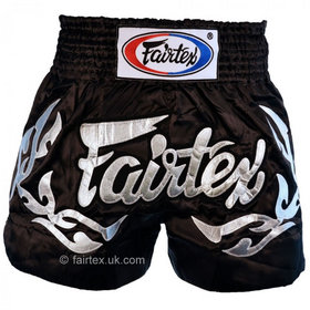 Fairtex Satin Muay Thai Shorts Eternal Silver