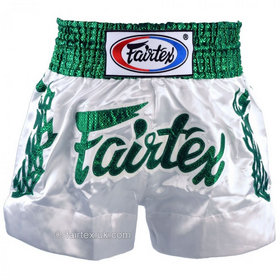 Fairtex Satin Muay Thai Shorts Heavens Grass