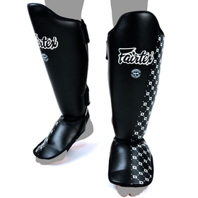 Fairtex Black Shin Pads