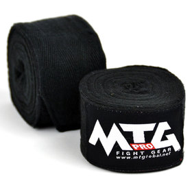 MTG Pro Cotton Handwraps / Black - 5m