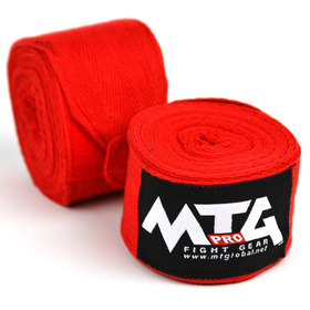 MTG Pro Cotton Handwraps / Red - 5m
