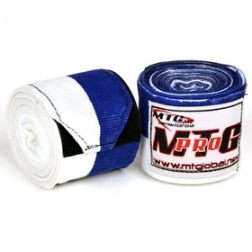 MTG Pro 5m Elasticated Handwraps Blue & White