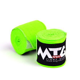 MTG Lime Green 5m Elasticated Handwraps - 2.5m