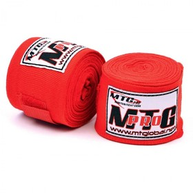 MTG Pro 5m Elasticated Hand Wraps Red