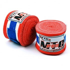 MTG Pro 5m Elasticated Hand Wraps Thai Flag