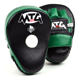 MTG Pro Curved Focus Mitts Black & Green