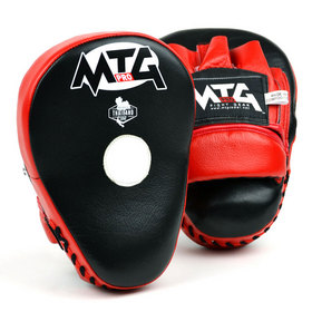 MTG Pro Curved Focus Mitts Red & Black