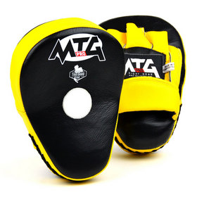 MTG Pro Curved Focus Mitts Black & Yellow