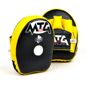 MTG Pro Mini Curved Focus Mitts Black & Yellow