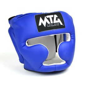 MTG Blue Synthetic Sparring Headguard